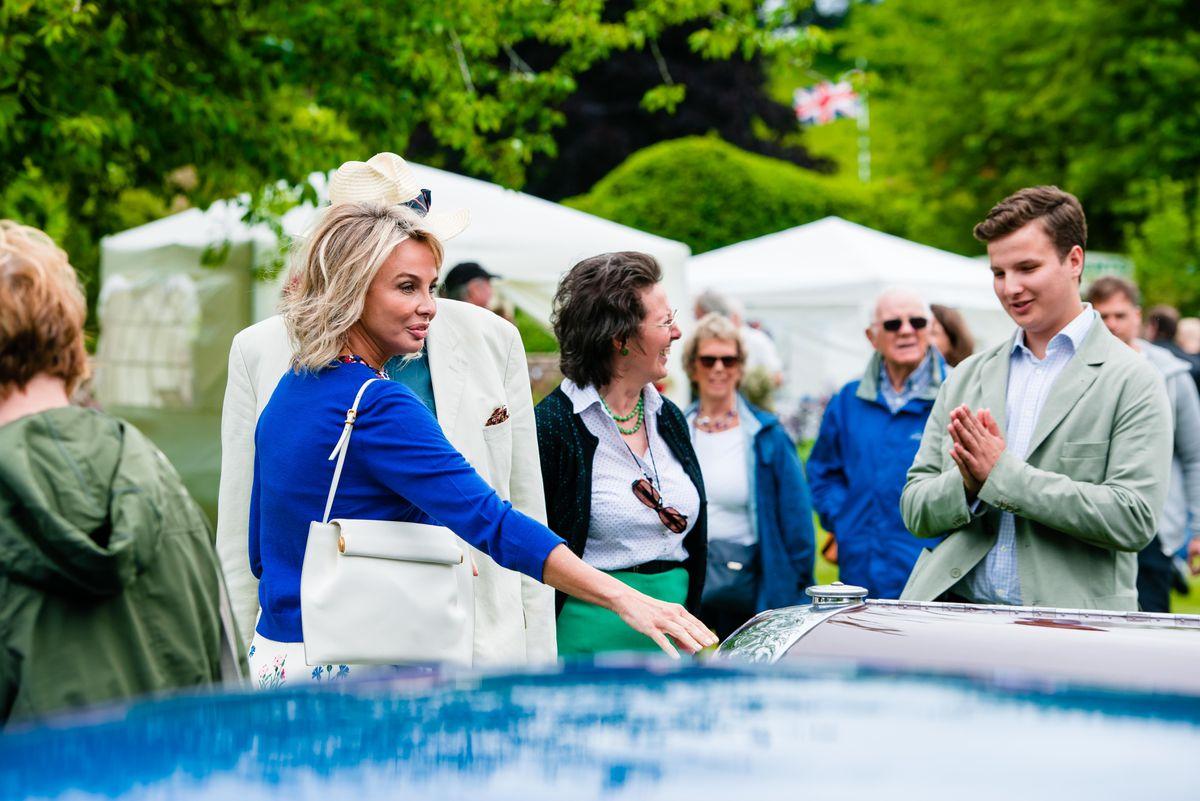 Corinna zu Sayn-Wittgenstein visiting the Classic Car Show at Ludstone Hall in Claverley