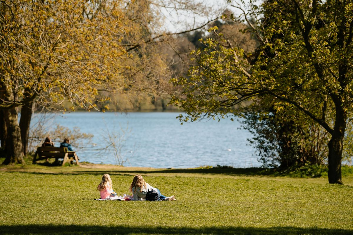 It was the perfect time to relax in the sunny weather at The Mere, in Ellesmere, as families embraced the return of warmer temperatures amid the easing of lockdown rules