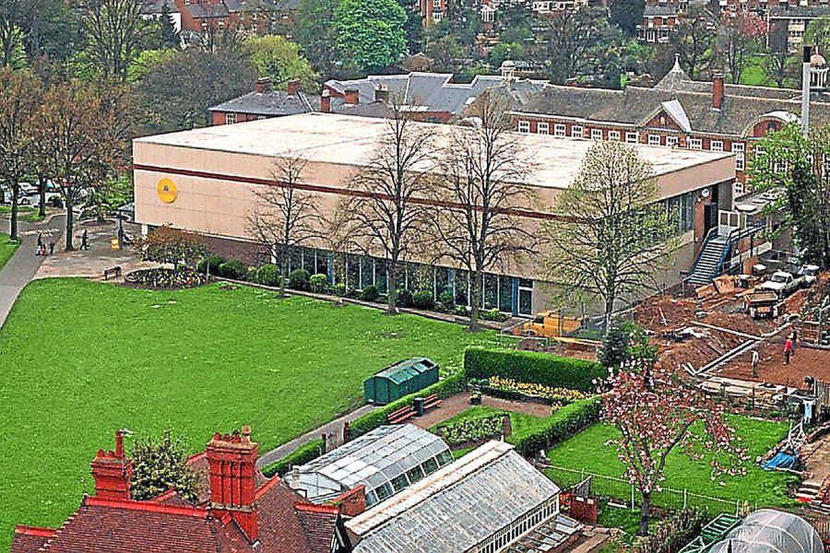 The Quarry pool in Shrewsbury