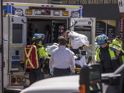 Nine dead after van hits pedestrians in Toronto