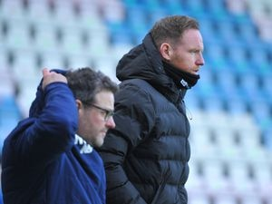 TELFORD COPYRIGHT MIKE SHERIDAN Telford manager Gavin Cowan during the Vanarama Conference North fixture between AFC Telford United and Curzon Asthon at the New Bucks Head Stadium on Saturday, January 16, 2020...Picture credit: Mike Sheridan/Ultrapress..MS2021-056.