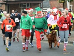Runners trot along to rescheduled Market Drayton festive 5k race