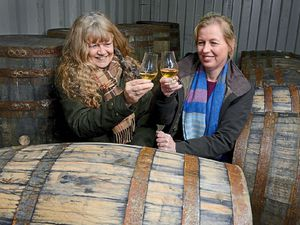 New Shropshire whisky distillery directors Alex Toller and Alison Parr are toasting their success after selling out of their new tipple