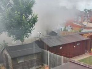 Firefighters dealt with a fire in Whitchurch Road, Shrewsbury