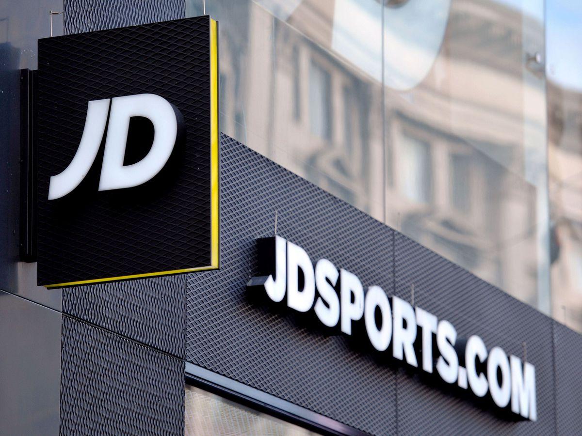 A JD Sports shop sign
