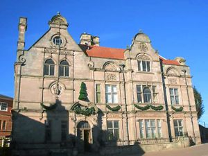 Oswestry Guildhall where the archives are stored