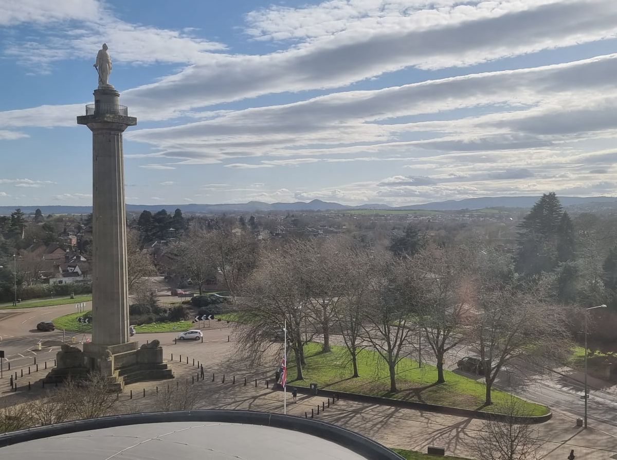 A dramatic panorama from the upper floors of the Shirehall. Picture: SOS – Save Our Shirehall.