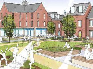Artist impression of the proposed Monument Garden Village