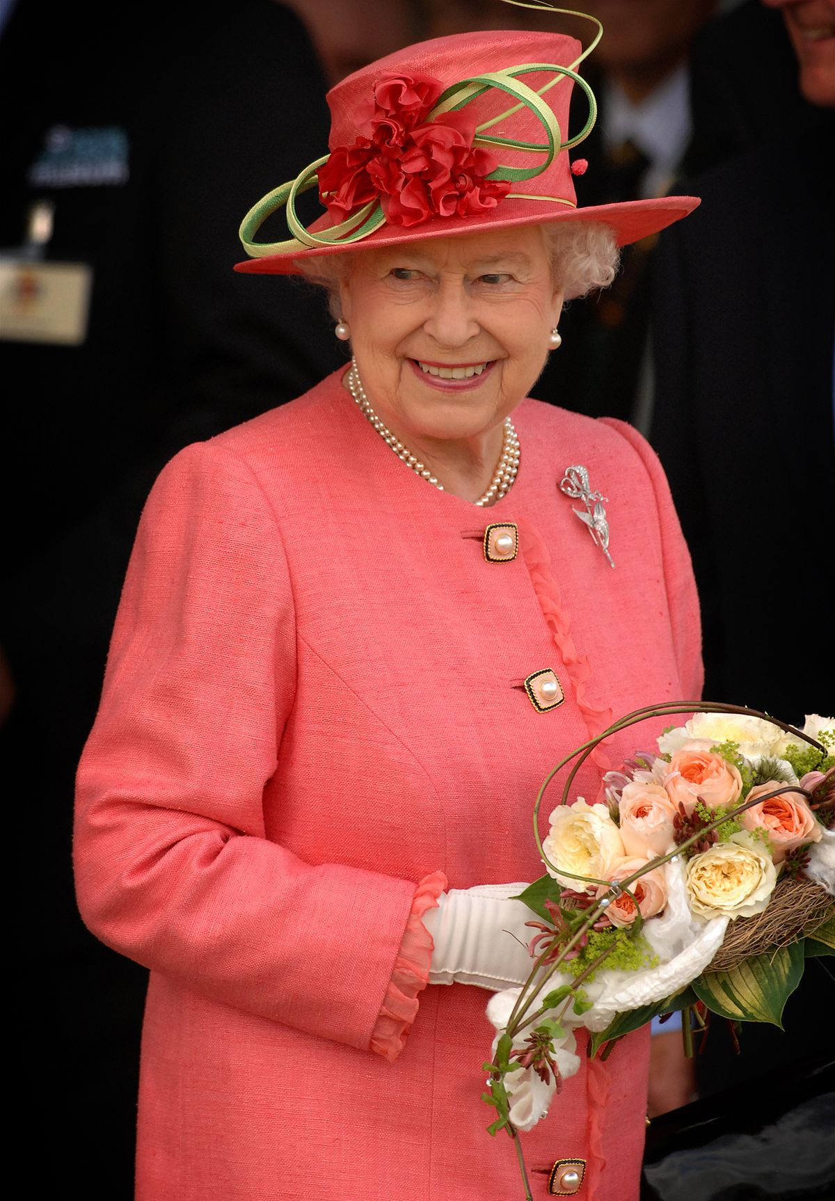 The Queen at RAF Cosford Museum for the diamond jubilee pageant in 2012