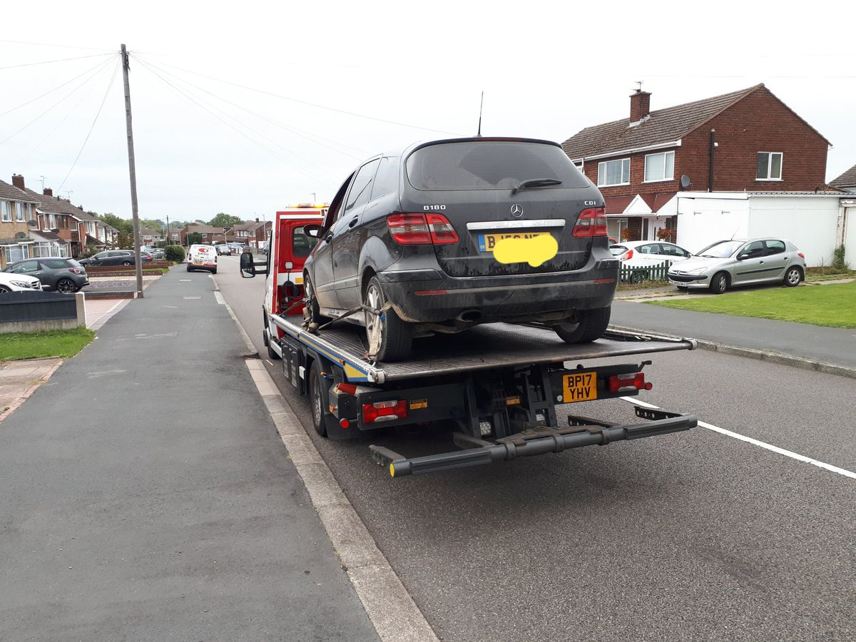 The car was seized and the driver reported. Photo: @TelfordCops
