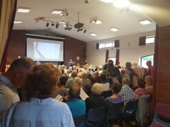 Hundreds turn out in opposition to plans for M54 homes plan
