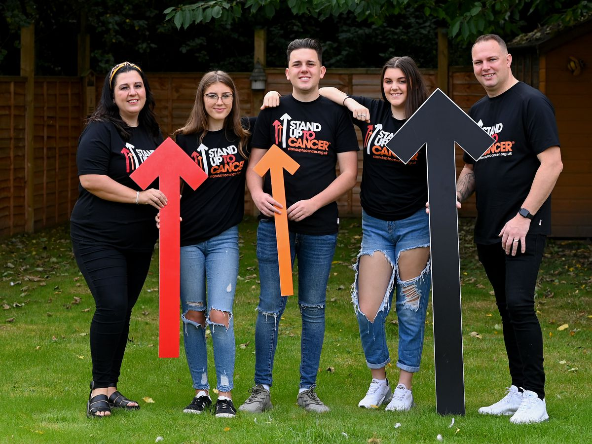 Cancer survivor Kian and his family will be standing up all day on Friday, October 15, to raise money for Stand Up To Cancer's life-saving research.