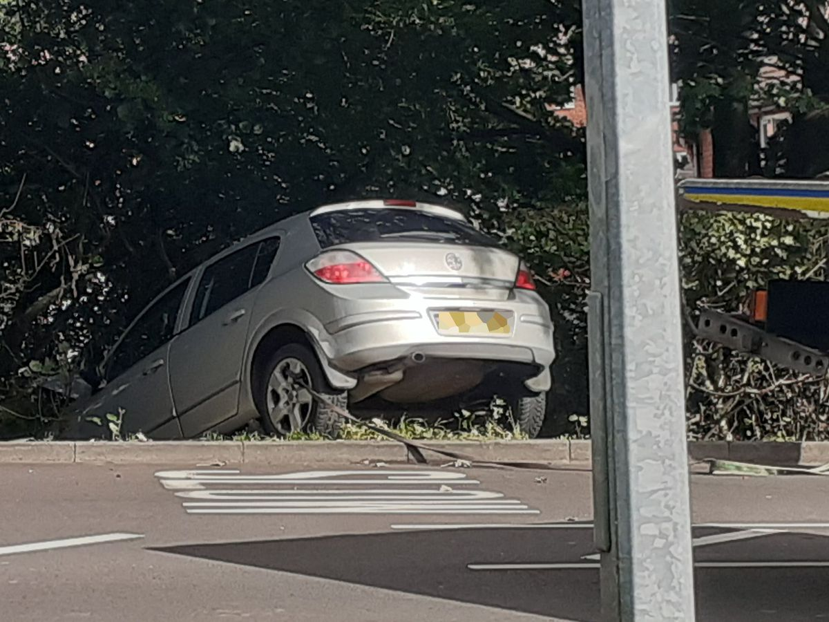 The aftermath of the crash in Southall Road