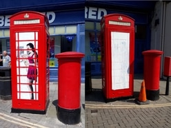 Graffiti or art? Fury as Ludlow phone box art is whitewashed