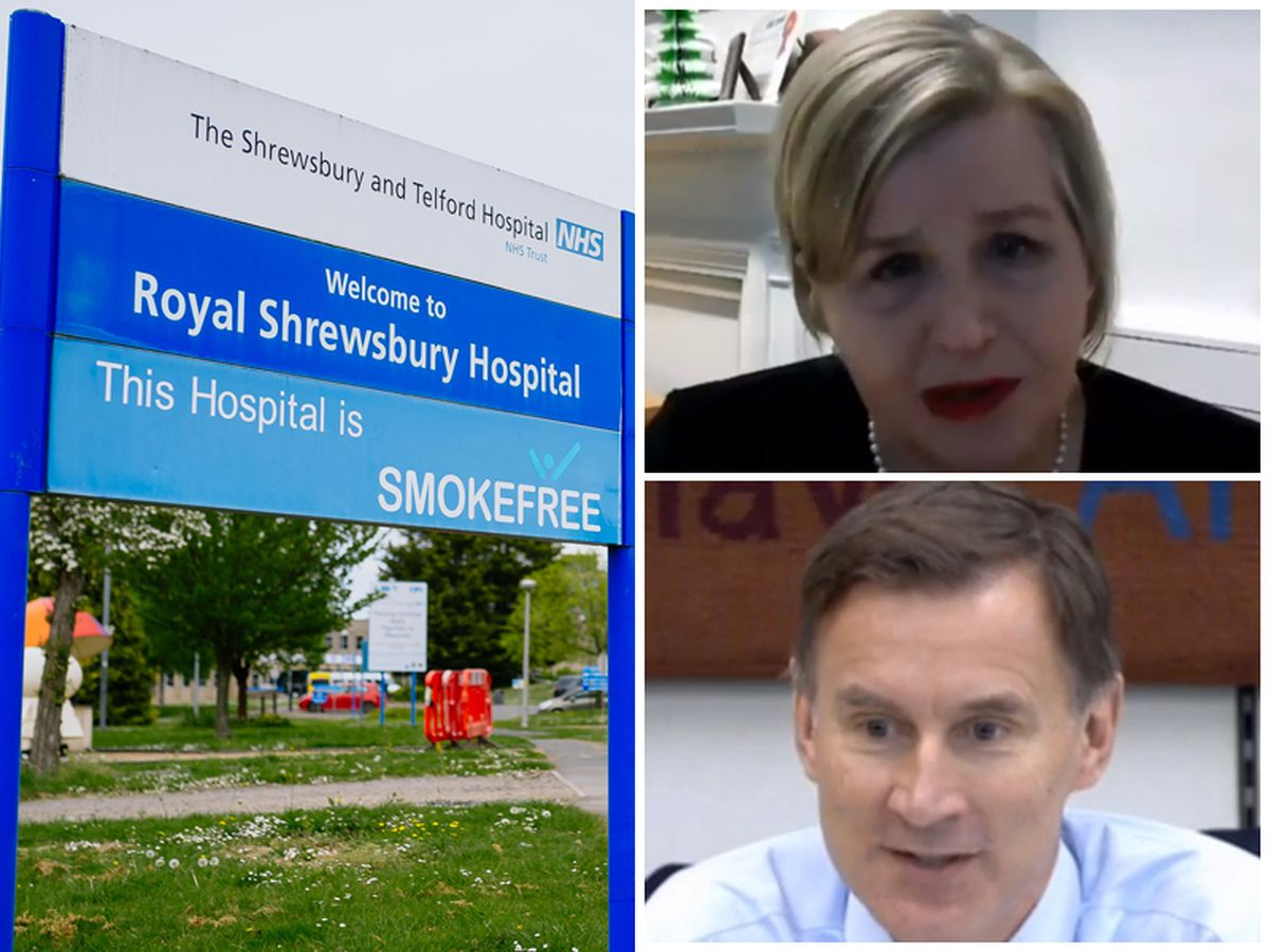 Donna Ockenden, top right, was giving evidence to the Health and Social Care Committee, chaired by Jeremy Hunt