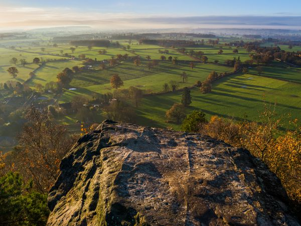 Early morning light over north Shropshire, seen from Grinshill Hill..