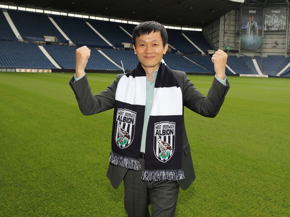 Guochuan Lai visits The Hawthorns Stadium, home of West Bromwich Albion. (AMA)