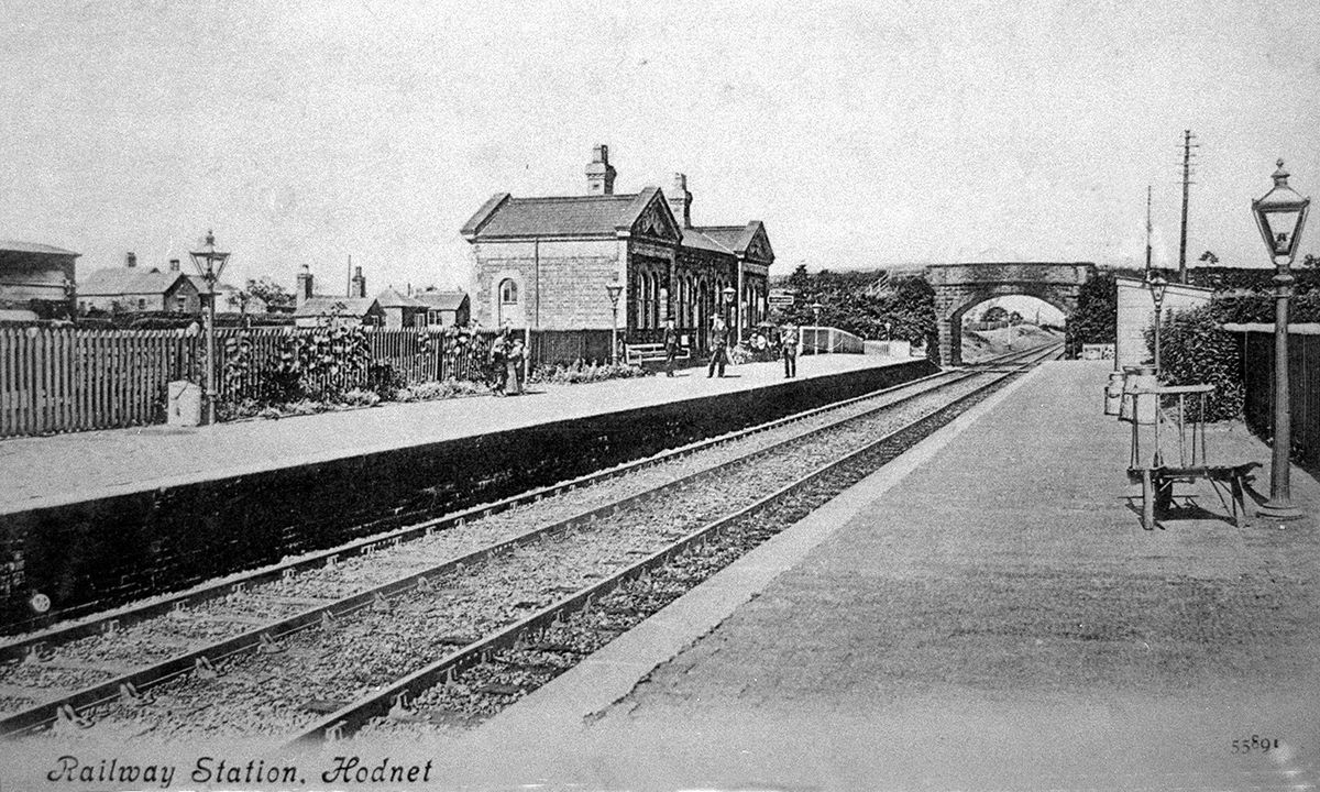 Better days – the station as seen in a postcard franked in 1907. Picture: Ray Farlow.