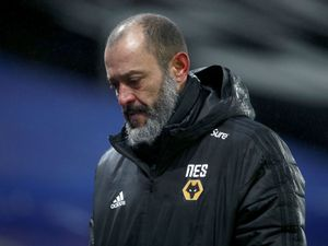 """Wolverhampton Wanderers manager Nuno Espirito Santo at the end of the Premier League match at Selhurst Park, London. Picture date: Saturday January 30, 2021. PA Photo. See PA story SOCCER Palace. Photo credit should read: Ian Walton/PA Wire. RESTRICTIONS: EDITORIAL USE ONLY No use with unauthorised audio, video, data, fixture lists, club/league logos or """"live"""" services. Online in-match use limited to 120 images, no video emulation. No use in betting, games or single club/league/player publications."""