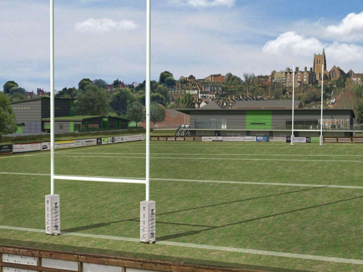 An artist's impression of what Bridgnorth Rugby Club could look like