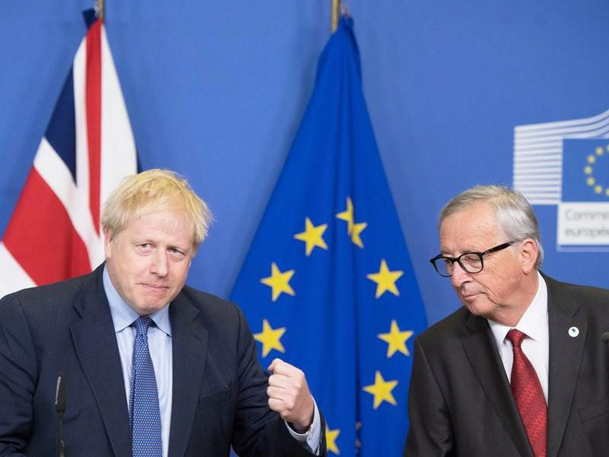 Boris Johnson and Jean-Claude Juncker in Brussels