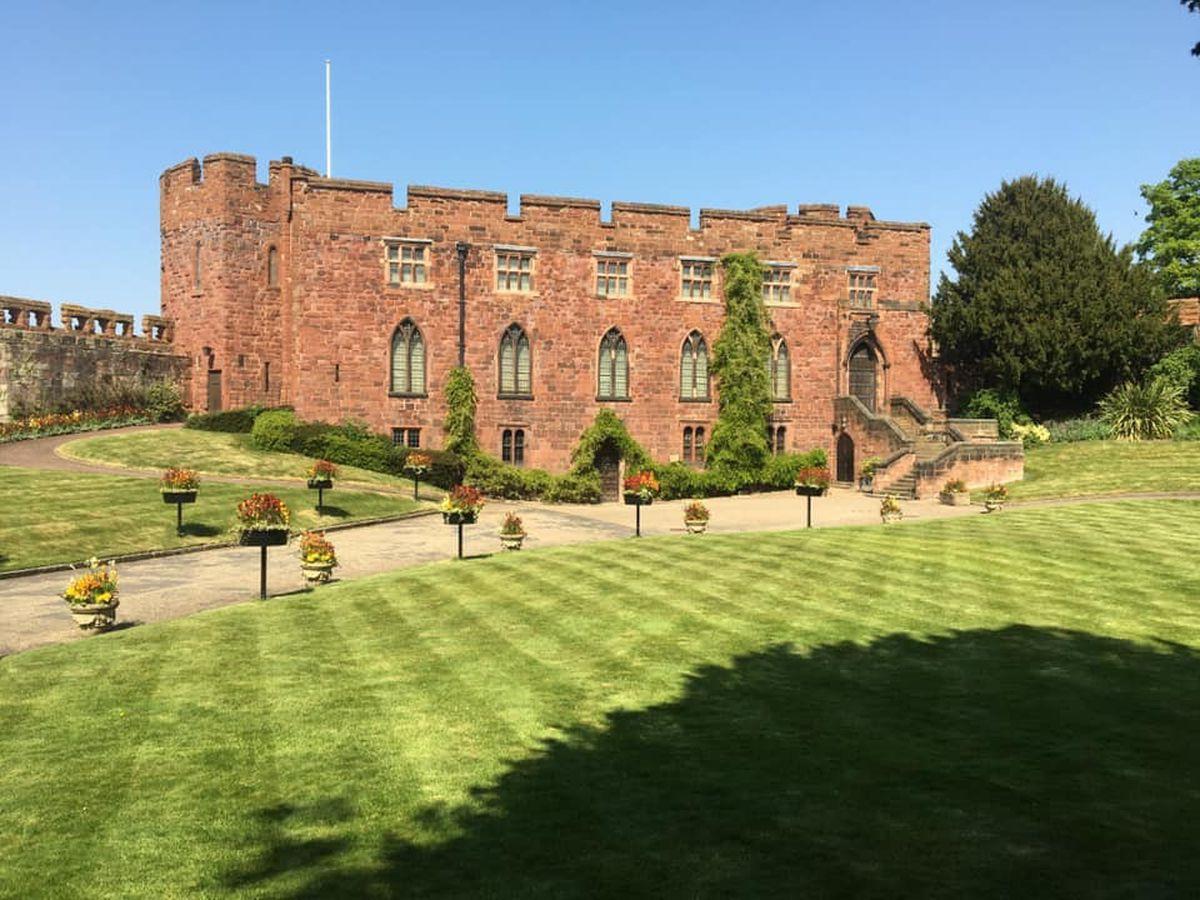 The pristine lawns at Shrewsbury Castle