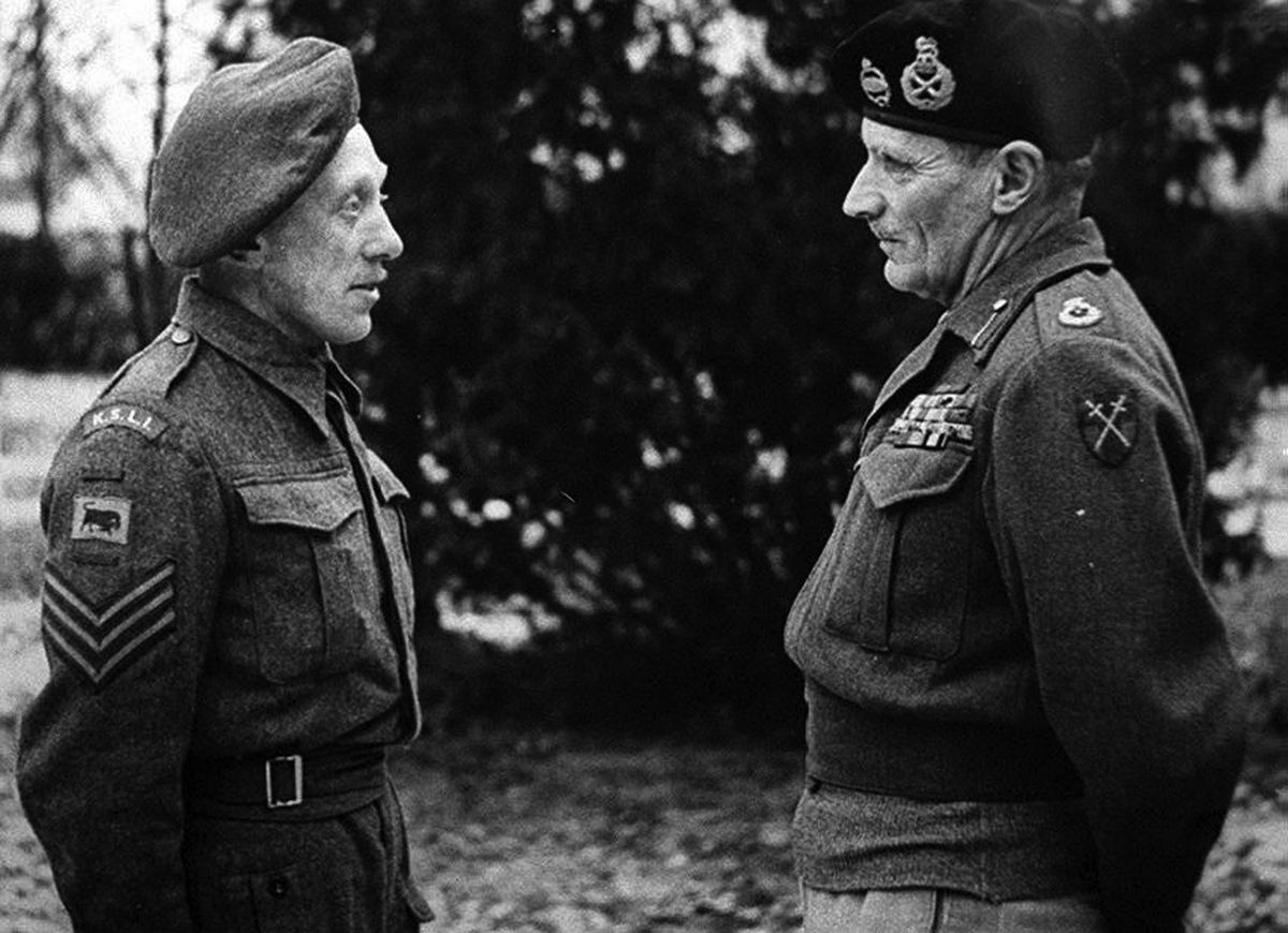 Eardley with Field Marshal Montgomery, right.