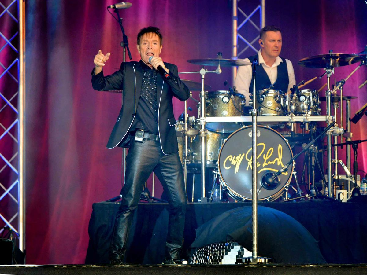 Sir Cliff Richard performing at Walcot Hall, near Bishop's Castle