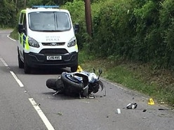 Motorbike rider seriously injured in crash after making off from police