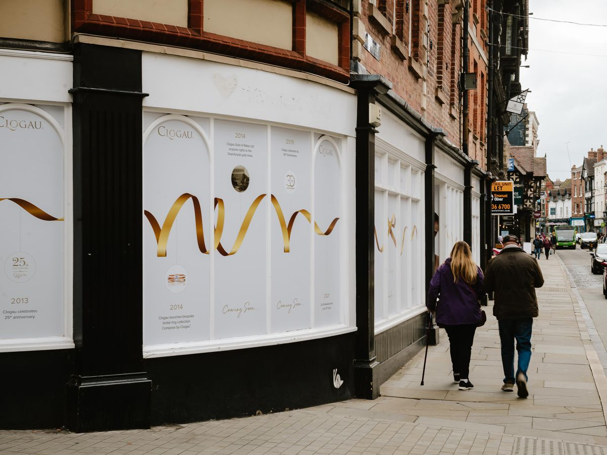 The new Clogau shop will open on Pride Hill, Shrewsbury next month