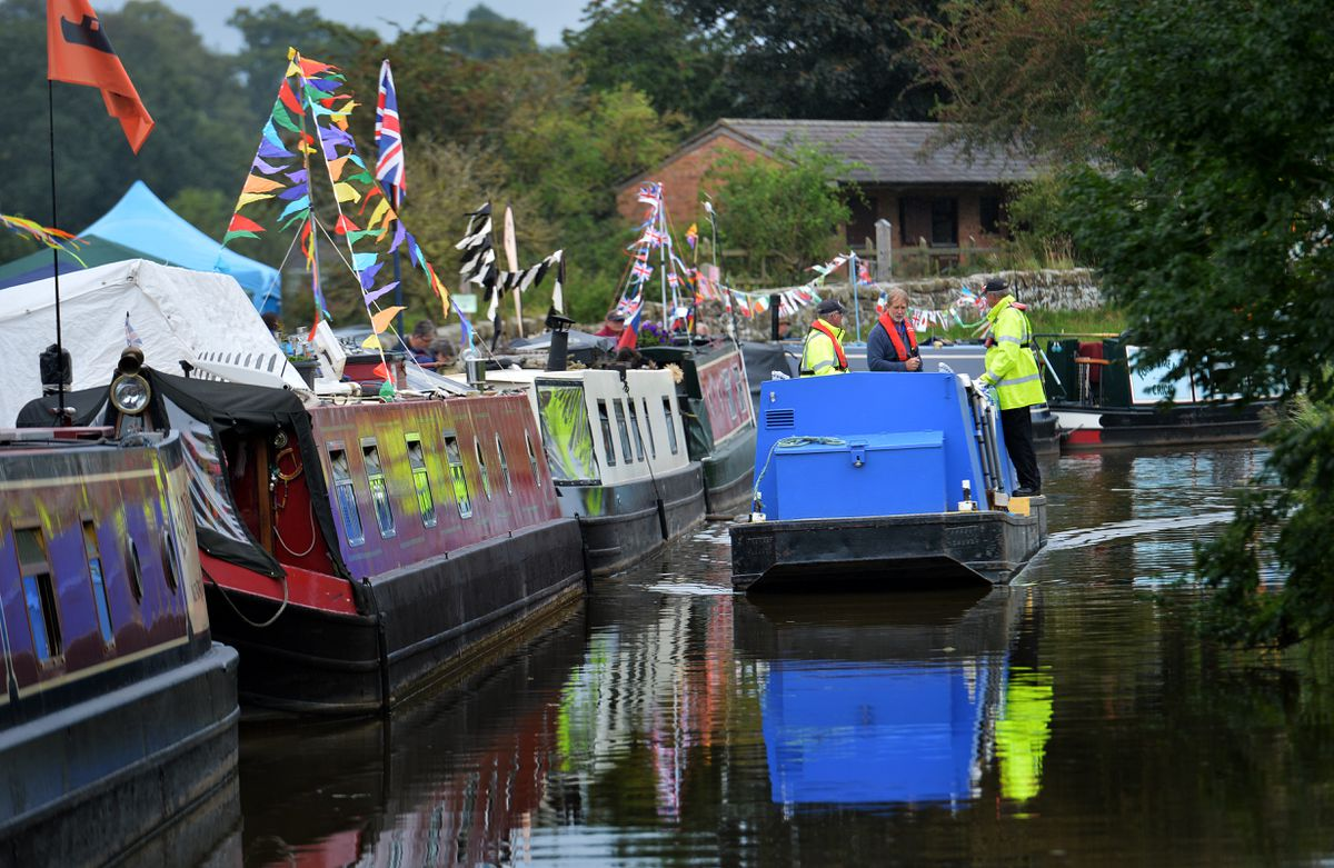 Rides along the waterway were on offer at Whitchurch Canal Festival