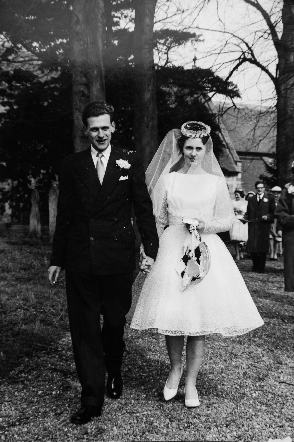 Daisy Perks and Kenneth Perks on their wedding day