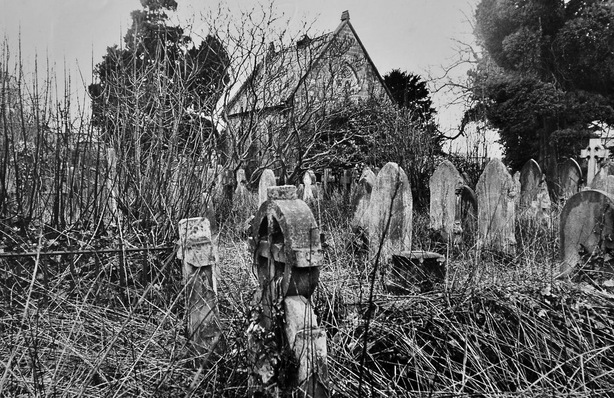 """""""Wem burial ground and its disused chapel. Expert advice is to be sought on a plan to turn the graveyard into an amenity area,"""" reads the caption with this photo from our archive which dates from March 1972. As you can see, it certainly needs a tidy-up."""