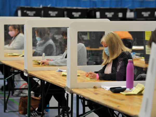 The votes are checked at Shrewsbury Sports Village