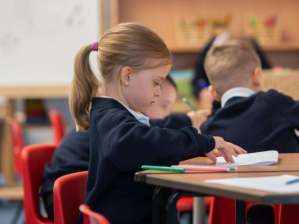 Children in class at Arbours Primary Academy in Northampton. Many primary school pupils had little to no contact with their friends during the five-month period before schools fully reopened, a Government report suggests (Joe Giddens/PA)