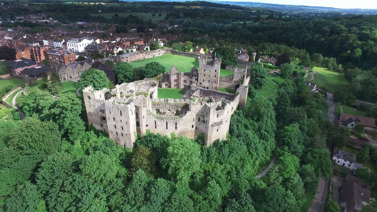 Ludlow Castle, home to Catherine of Aragon during her first marriage to Arthur, Prince of Wales