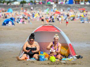 Barry Island in Wales was a popular spot for sunbathing