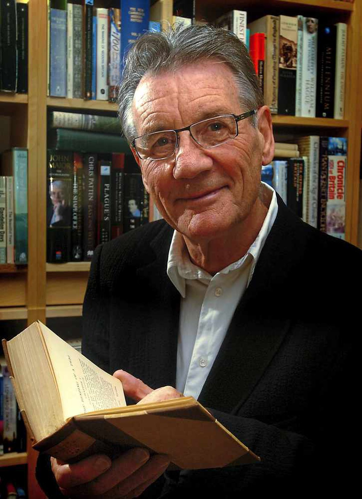 Michael Palin on a visit to his former school Shrewsbury School to give a lecture