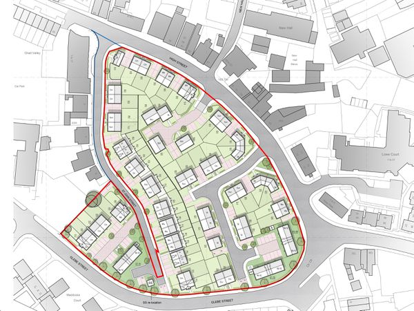 The site plan for the development
