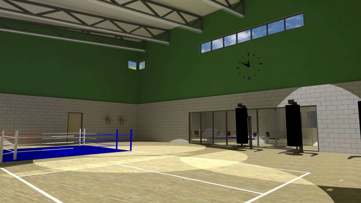 An artist's impression of the community sports facility