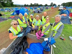 Big V Festival clean-up gets underway at Weston Park - with video and pictures