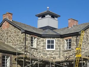 The new roof on the Master's House