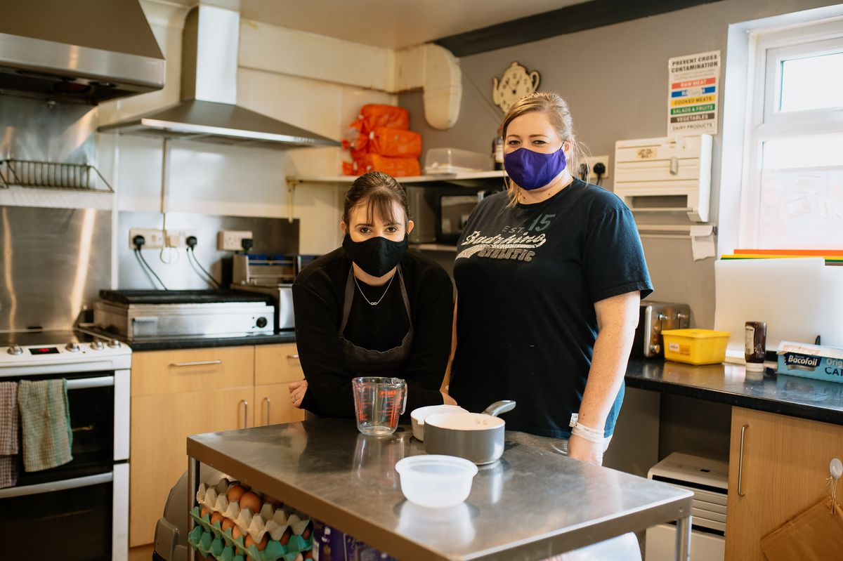 Sisters Sarah Jones and Lisa Edwards of Village Pantry Cafe, which faces closure because it is on the wrong side of the road
