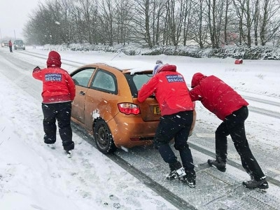 Dozens spend night at school shelter after snow shuts A30 in South West