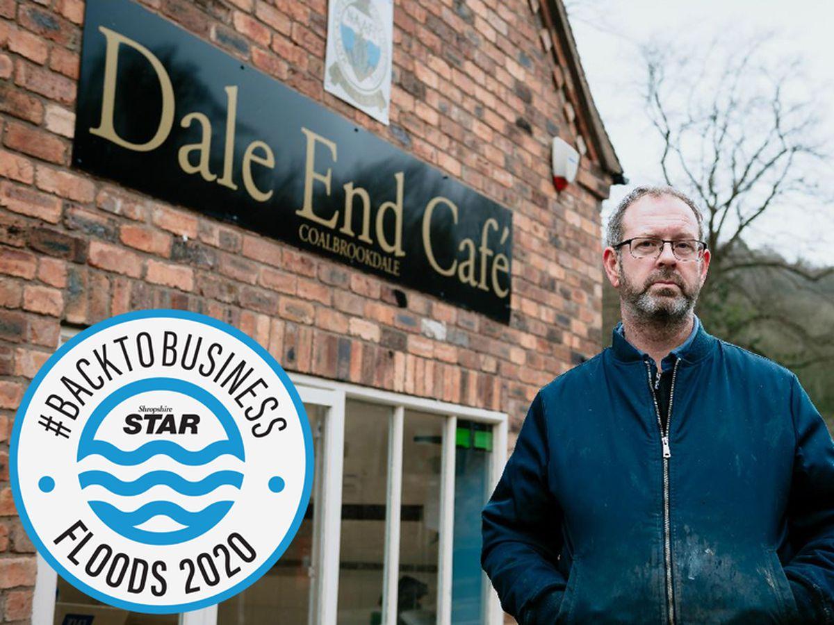 Owner Chris Harrison at Dale End Cafe, Coalbrookdale