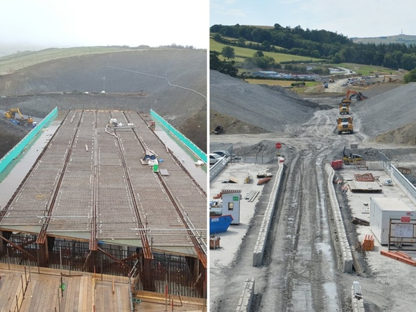 Moving mountains: Pictures reveal scale of Newtown bypass work