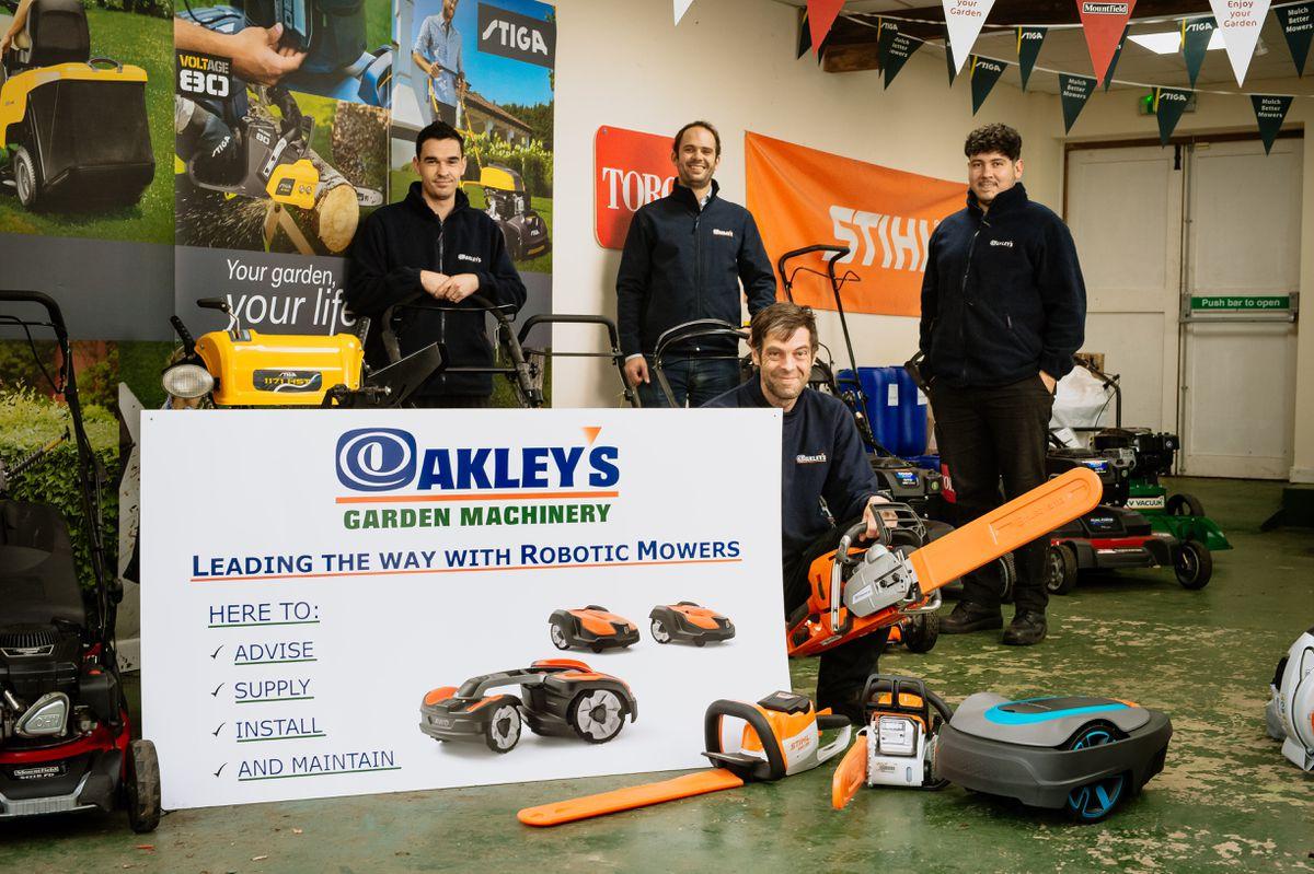 Matt Downes, Ross Bland, Ross Langley (front) and Alex Bachene from Oakleys Ltd
