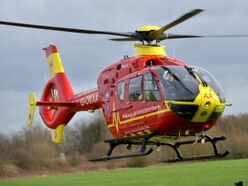 Air ambulance lands in Market Drayton as police close road