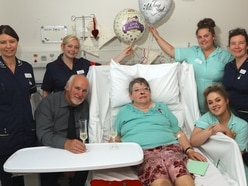 Couple marry at Shrewsbury hospital after surprise proposal