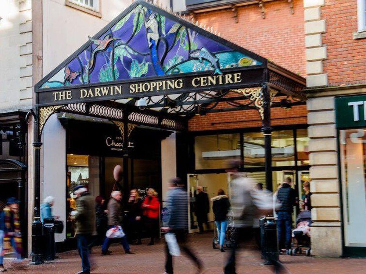 The Darwin Shopping Centre in Shrewsbury town centre